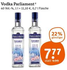 [tegut, bundesweit] Parliament Vodka - 7,77€