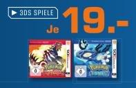 Lokal HH Saturn - Pokemon Omega Rubin und Sapphire 3DS 19,00Euro