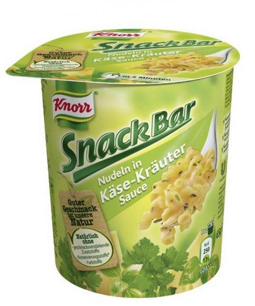 8x Knorr Snack Bar Nudeln verschiedene Sorten bei Amazon