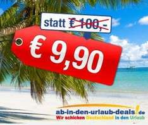 Ab in den Urlaub Lastminute 100€ Gutschein für nur 9,90€ !