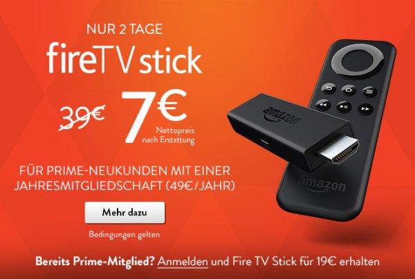 Fire TV Stick 19 € für Prime-Kunden @Amazon