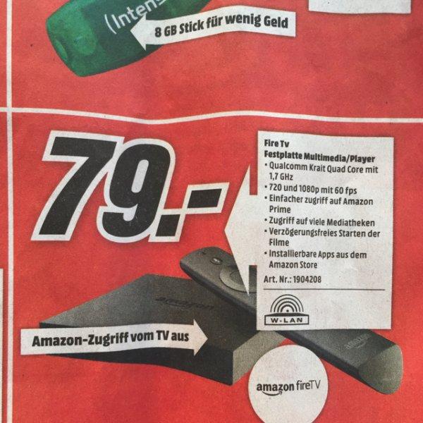 [Lokal Media Markt Weiterstadt] Amazon Fire TV für 79 €