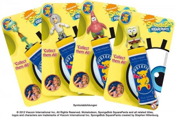 Pustefix - Großpackung mit SpongeBob Sammelfigur für 1,50€ bei Müller.de