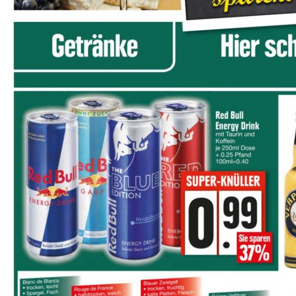 Red Bull 0,25 verschiedene Sorten (Edeka Mühldorf am Inn)