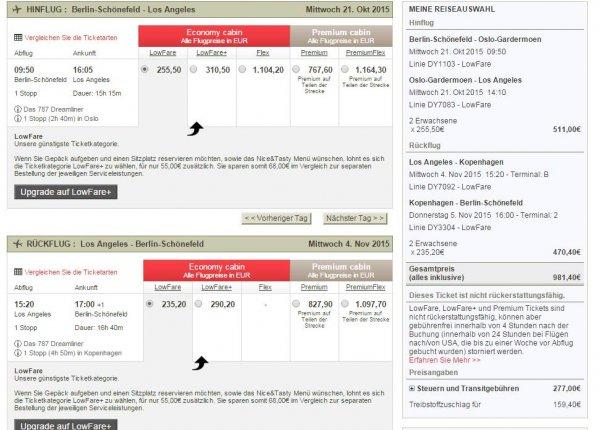 Flüge nach Los Angeles (LAX) - richtig günstige Angebote bei Norwegian Air