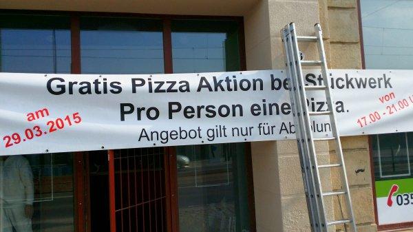 [Lokal Dresden] Gratis Pizza bei Stückwerk Neueröffnung am 29.03.2015