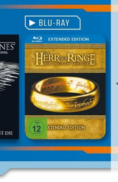 [LOKAL MG Minto]Der Herr Ringe Die Spielfilm Trilogie (Extended Edition Bluray) für 25€@Saturn