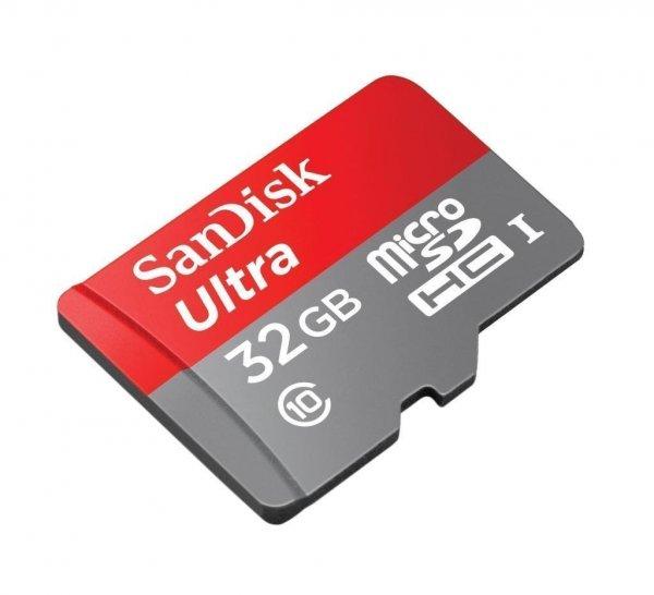 [Amazon Prime] SanDisk Ultra 32GB microSDHC UHS-I Class 10 Speicherkarte + SD-Adapter für 11,07€