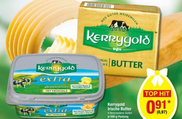Kerrygold verschiedene Sorten ab 26.03. für 97 Cent Brutto bei Metro