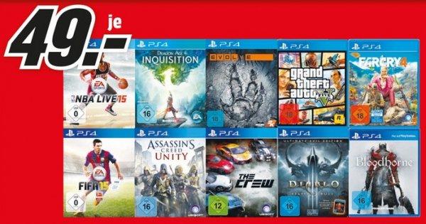 [Mediamarkt Aalen] Bloodborne oder GTA 5 (PS4) für je 49,- EUR