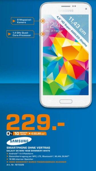 [Saturn] Samsung Galaxy S5 mini für 229€ @ Saturn Stuttgart