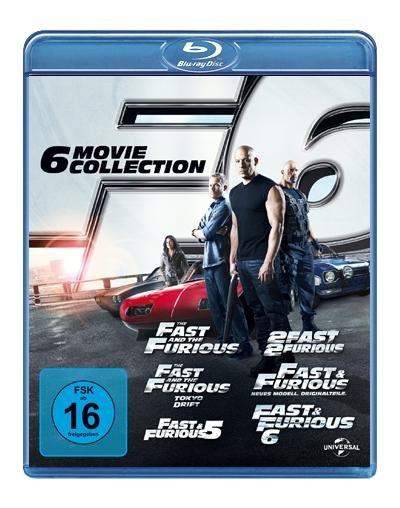 Fast & Furious 1-6 [Blu-ray]  für 25,97€ @AmazonBlitzangebote