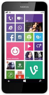 Nokia Lumia 630 Dual-SIM Smartphone (11,4 cm (4,5 Zoll) Touchscreen, 5 Megapixel Kamera, 1,2GHz Quad-Core, Windows Phone 8.1) weiß inkl. Vsk für 93,43 € > [amazon.it]