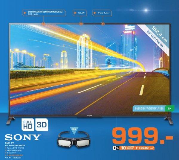 [Lokal Saturn ES] Sony KDL 60 W 855 3-D-Full-HD-Smart-TV für 999 Euro