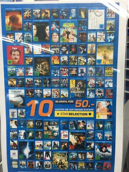 [Saturn Dortmund Hagen Iserlohn] 10 Star Selection Blu-rays für 50 Euro