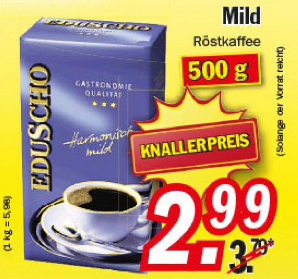 KW14 Zimmermann Kaffee Eduscho Harmonisch Mild 500g für 2,99€