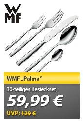 [Meinpaket] WMF Besteck Palma, Besteckset, 30 tlg, Cromargan für 59,99 EUR