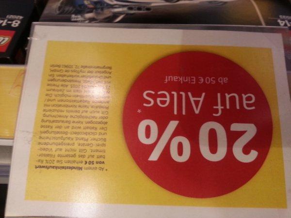 mytoys (lokal? kassel) 20% auf alles ab 50€ / z.B. Lego Radlader 42030 für 143,19 oder Rennwagen 42039 für 75,99