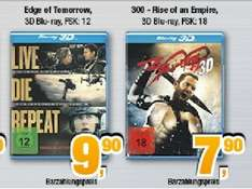 [Expert Bening - lokal] 300 Rise of an Empire 3D Blu-Ray für 7,90 EUR / Edge of Tomorrow 3D für 9,90 EUR