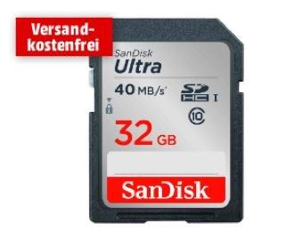 Sandisk SDHC Ultra 32GB Class 10 UHS-I für 12€ bei Media Markt
