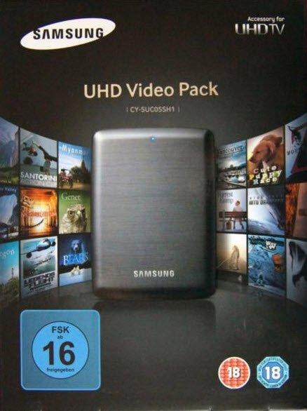 Samsung VideoPack 8 UHD Hollywood Filme 32 UHD Dokus 500Gb USB3.0 Externe Festplatte