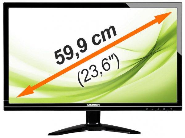 "Medion P55425 - 23,6"" Full HD LED-Backlight Monitor, HDMI, DVI-D, VESA, Lautsprecher (B-Ware) für 99,99€ @ebay(Medion)"