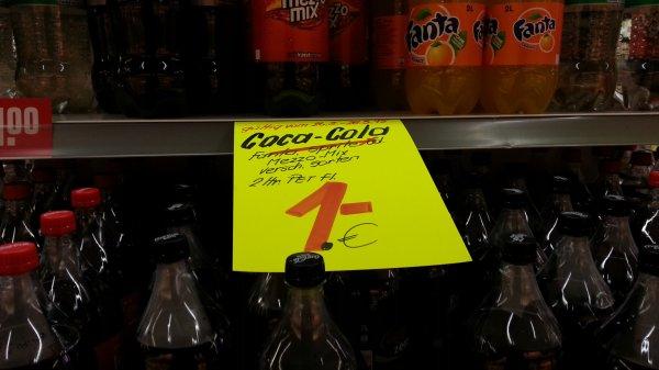 [Rewe Dortmund, Münster] CocaCola, Fanta, Sprite, ... 2L für 1 Euro zzgl. Pfand