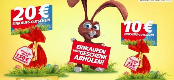 Gutschein-Aktion im Real: 10€ ab 75€ oder 20€ ab 150€ Umsatz am 27 und 28.03