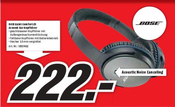 [Lokal Neu-Ulm/Ulm] Bose QuietComfort 25 Acoustic Noise Canceling bei Mediamarkt
