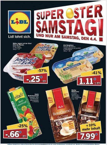[Lidl/Bundesweit] Müller Joghurt mit der Ecke für 0,25€ am Super-Samstag 04.04.2015