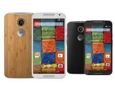 Motorola Moto X (2. Gen.) Black Leather oder Bamboo.  ibood.de