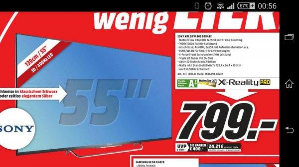 [MM Dortmund] Sony KDL-55W805B - 55 Zoll LED TV