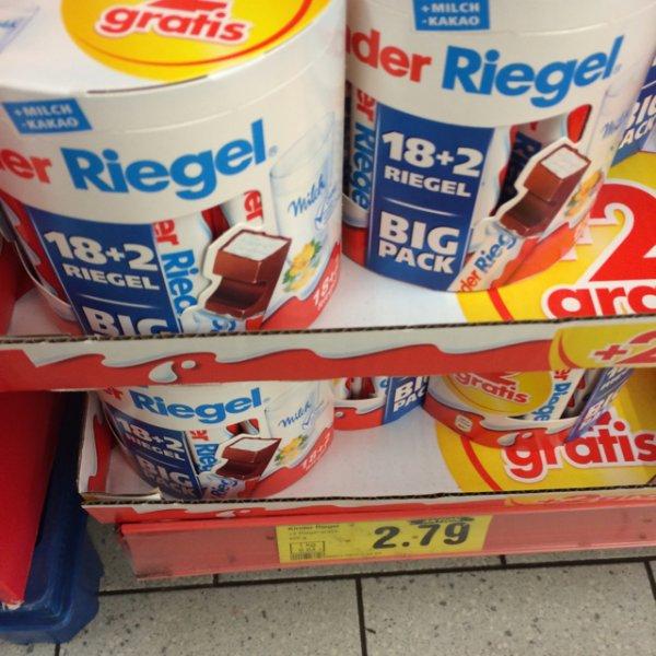 [bundesweit] Kinderriegel BIG Pack 18+2 für 2,79€ bei Netto (rot-gelb und ohne Hund)