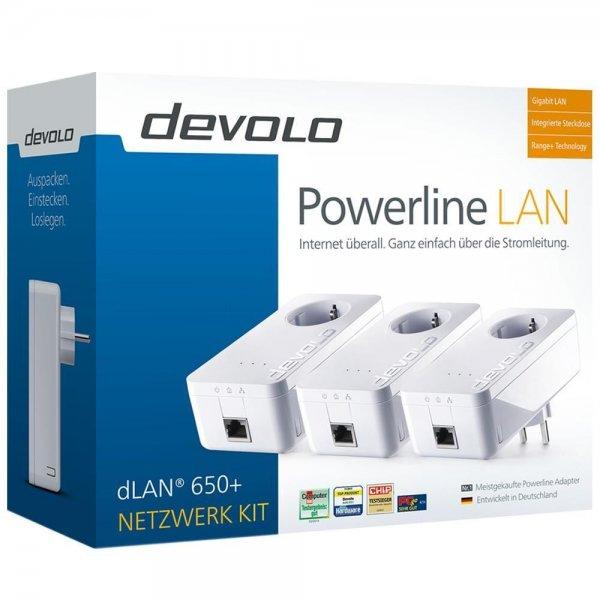 [eBay] Devolo dLAN 650+ Powerline 600 Mbit/s Network Kit - Netzwerkverteilung via Stromleitung