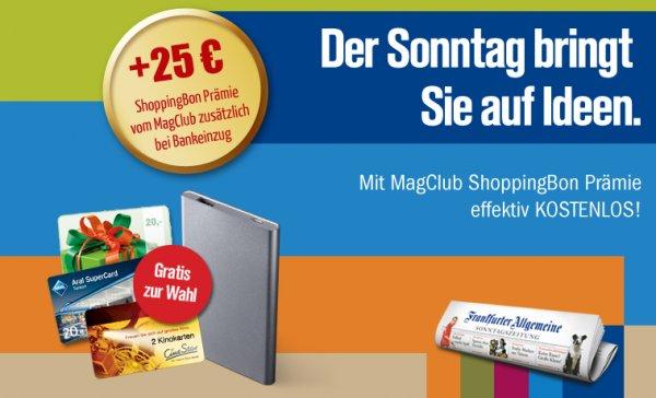 12 x Frankfurter Allgemeine Sonntagszeitung FAS 5,10 € Gewinn bei Bankeinzug @MagClub