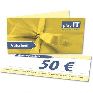 playIT Einkaufsgutschein 50€ für 40€, 1x pro Person