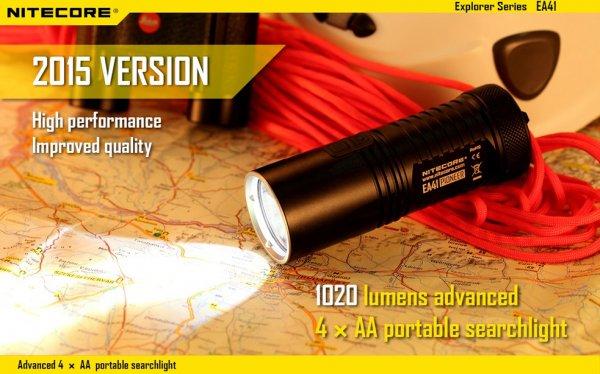 Nitecore EA41 CREE XM-L2 U2 Taschenlampe mit 1020lm (2015er Version) für 43,48€ von Banggood