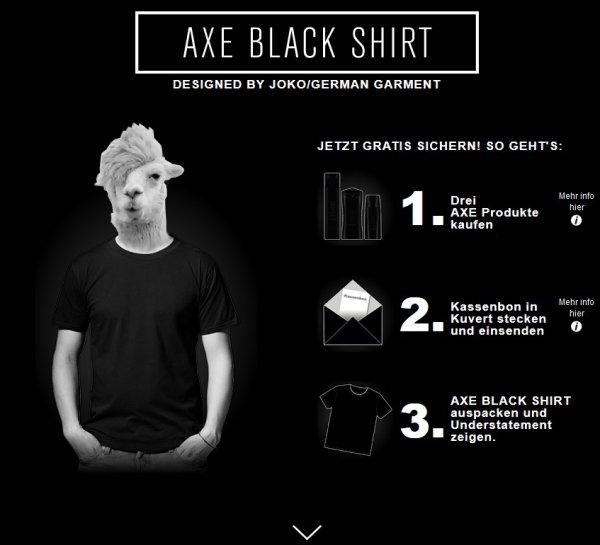 3 Axe Produkte kaufen und kostenloses Black T-Shirt erhalten