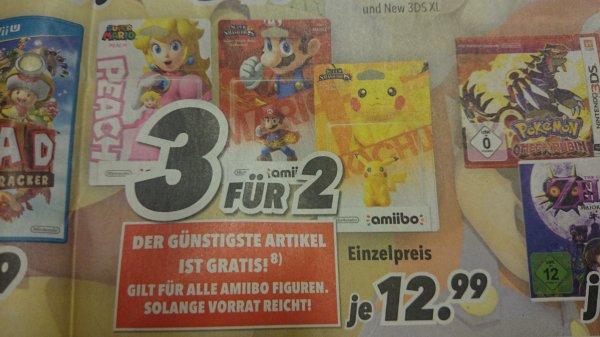 Nintendo Amiibo Figuren bei  Medimax  3 für 2, also effektiv 8,66€ pro Figur