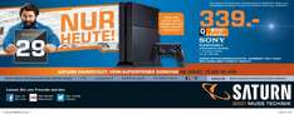 PS4, Playstation 4, 339,-€, Saturn Darmstadt