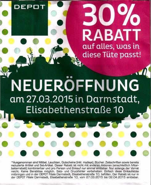 [Lokal] Depot Darmstadt 30% Eröffnungsrabatt + 10fach PayBack