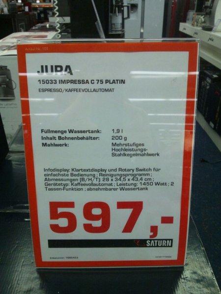 Jura Impressa C 75 Platin Lokal Berlin Saturn Europacenter