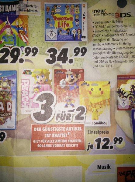 Amiibo Figuren 3 für 2 und je Figur 12,99€ bei Medimax