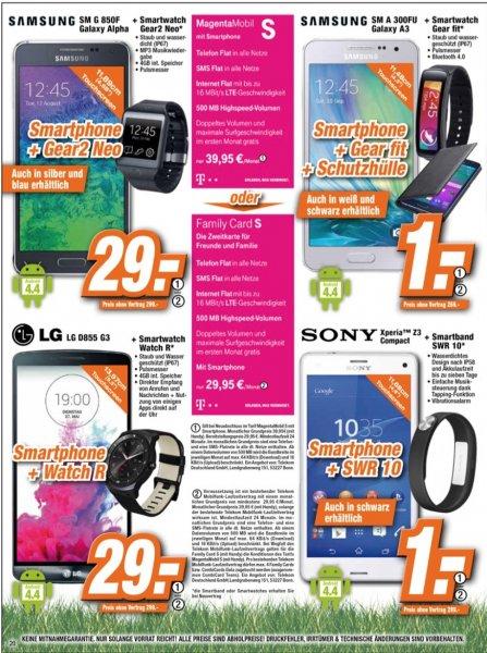 Sony Xperia Z3 Compact o. LG G3 o. Samsung Galaxy Alpha je 299,-(EXPERT)