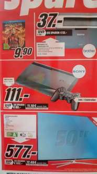 PS 3 Super Slim bei MediaMarkt Eschweiler für 111€
