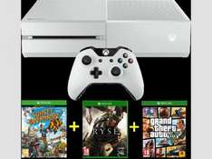 MICROSOFT Xbox One Bundle 500 GB weiß inkl. Sunset Overdrive (DLC) + Ryse + Gta V @Saturn.at
