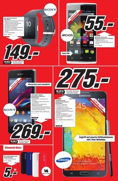 [lokal Bayreuth] Archos 40B Titanium Android 4.2 Dual-Sim Smartphone für 55€ @ Media Markt