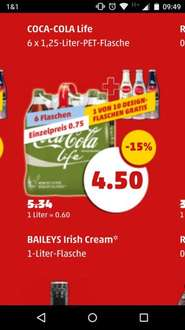 Coca Cola Life 6 x 1,25-Liter Pack + GRATIS Design-Flasche ab 30.03. bei Penny