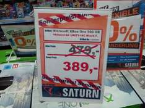 [lokal Saturn Darmstadt] XBox One 500GB + Kinect + AC Unity + AC Black Flag für 389 Euro