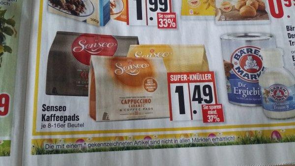 [Edeka großteils bundesweit] Original Senseo Kaffeepads 8/16er Packung 1.49€ oder 1,59€